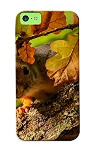 Defender Case For Iphone 5c, Squirrel On The Oak Tree Pattern, Nice Case For Lover's Gift