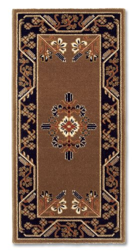Minuteman International Cocoa Jardin Rectangular Wool Hearth Rug