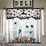Decoration Spider Lace Halloween Halloween Decoration Black Lace Spider Web Landshade Topper Lamp Shades Fireplace Mantle Multifunction