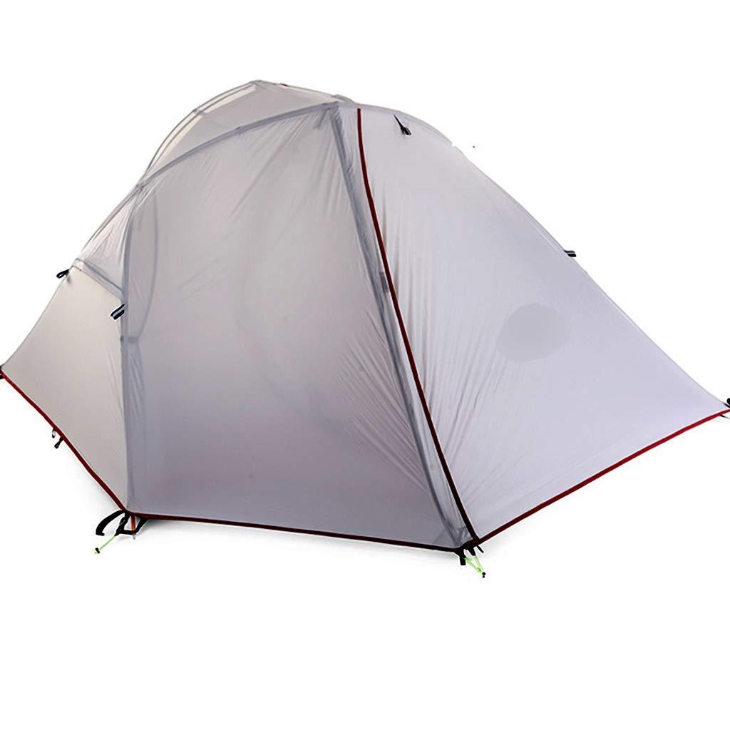 YaNanHome Zelt-im Freienzelt-einzelnes Zelt-Doppelte regendichte Zelt-Doppelte Farbe wahlweise freigestellt (Farbe : Weiß, Größe : 200  97  87cm)