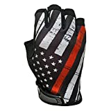 Industrious Handwear Red Line Flag - Unlined - Half Finger Gloves - IH-RL-XLG