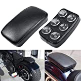 INNOGLOW Motorcycle Seat Rectangular Passenger Pad Seat 6 Suction Cup for Harley Motorcycle Cruiser Chopper Custom