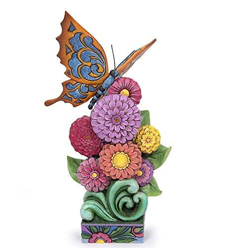 Enesco Jim Shore Figurine Butterfly on Zinnia