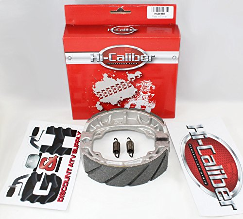 WATER GROOVED FRONT BRAKE SHOES & SPRINGS for the ATC 200 M S 200E 200ES Big Red ()