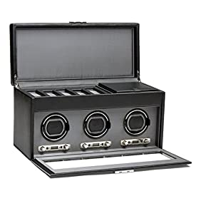 WOLF Viceroy Triple Watch Winder with Storage