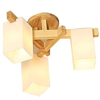 Shome Moderne Deckenbeleuchtung Kronleuchter Mit Holz