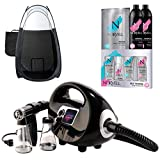 Black Fascination Spray Tan Machine and Norvell Professional Sunless Airbrush Tanning Solution Bundle with Black Pop Up Tent