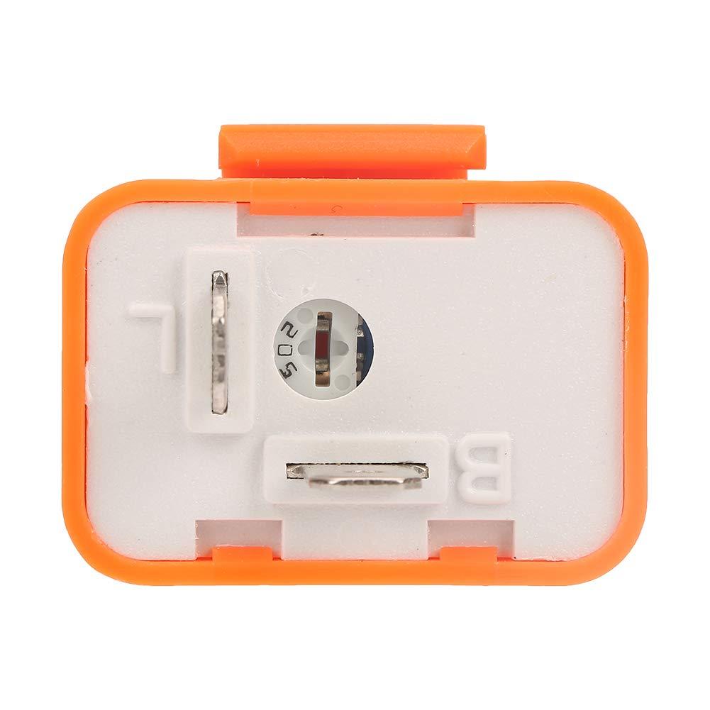 5 st/ücke 12 V 2 PIN Einstellbare Elektronische Blinkrelais Fix f/ür LED Blinker Gl/ühbirnen