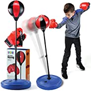 Play22 Boxing Set for Kids - Punching Bag for Kids - and Boxing Gloves - Adjustable Stand - Boxing Bag Set Toy
