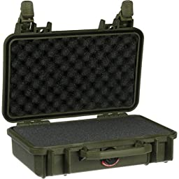 Pelican 1170 Watertight Case w/Lid & Foam, OD Green 1170-000-130