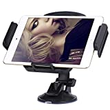 Adjustable Universal Tablet Car Mount Holder Stand Cradle 360 Degree Rotating with Strong Suction for 7 Inch-11 Inch Tablet iPad Mini 2 3 4 Samsung Galaxy Tab Kindle Fire Android Devices (Black)