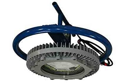 Temporary Manhole Mount Explosion Proof LED Fixture - 10K Lumens - Tank Nozzle Mount Lighting -