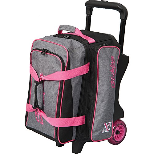 KR Strikeforce Bowling Krush Double Bowling Ball Roller Bag (Stone/Pink)