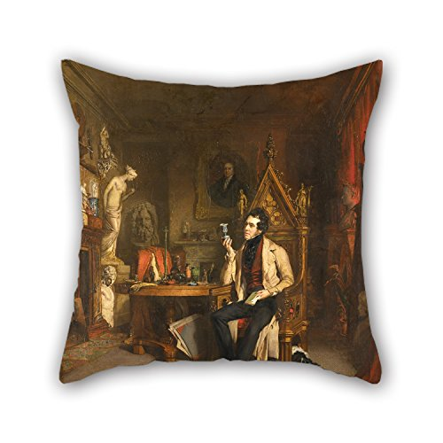 [Uloveme Pillow Covers Of Oil Painting William Daniels - Joseph Mayer,for Boys,bar,study Room,him,home Theater,birthday 16 X 16 Inches / 40 By 40 Cm(each] (Dark Souls Black Knight Costume)
