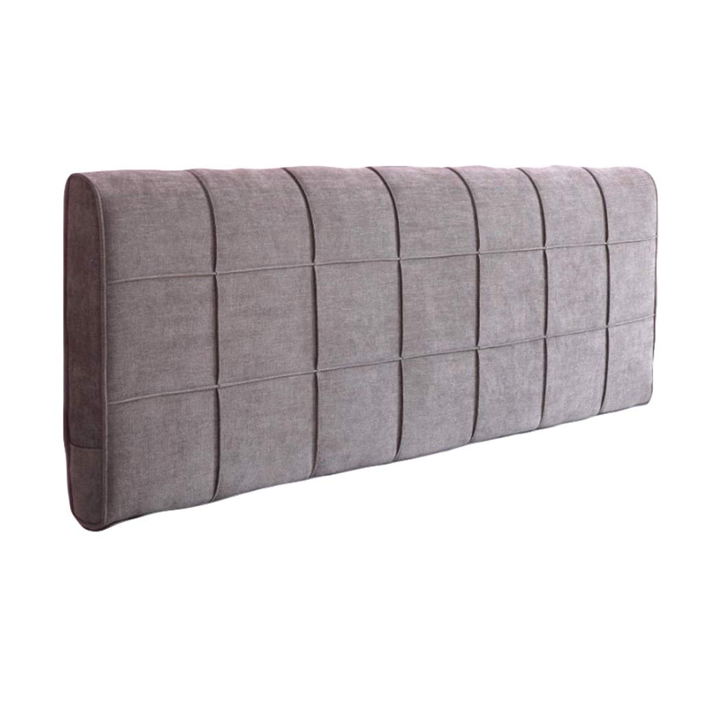 Chenille Headboard Cushion Cozy Bed Large Filled Triangular Wedge Cushion Bed Backrest Mobile Phone Remote Control Storage Reading Pad (Color : Purple Gray, Size : 150cm/59in) by BZXLKD01
