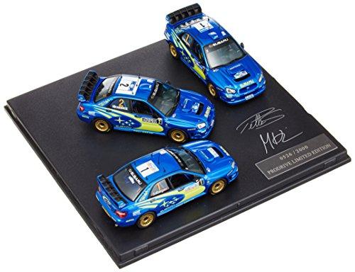 1/43 スバル インプレッサ WRC 3台セット フラッグ付 04-MC/NZ-PS