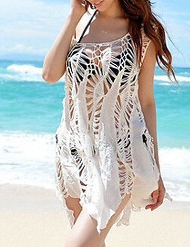 e18ffd3e27155 MEIREN Women's Halter One-pieces / Cover-Ups , Tassels / Solid Wireless /