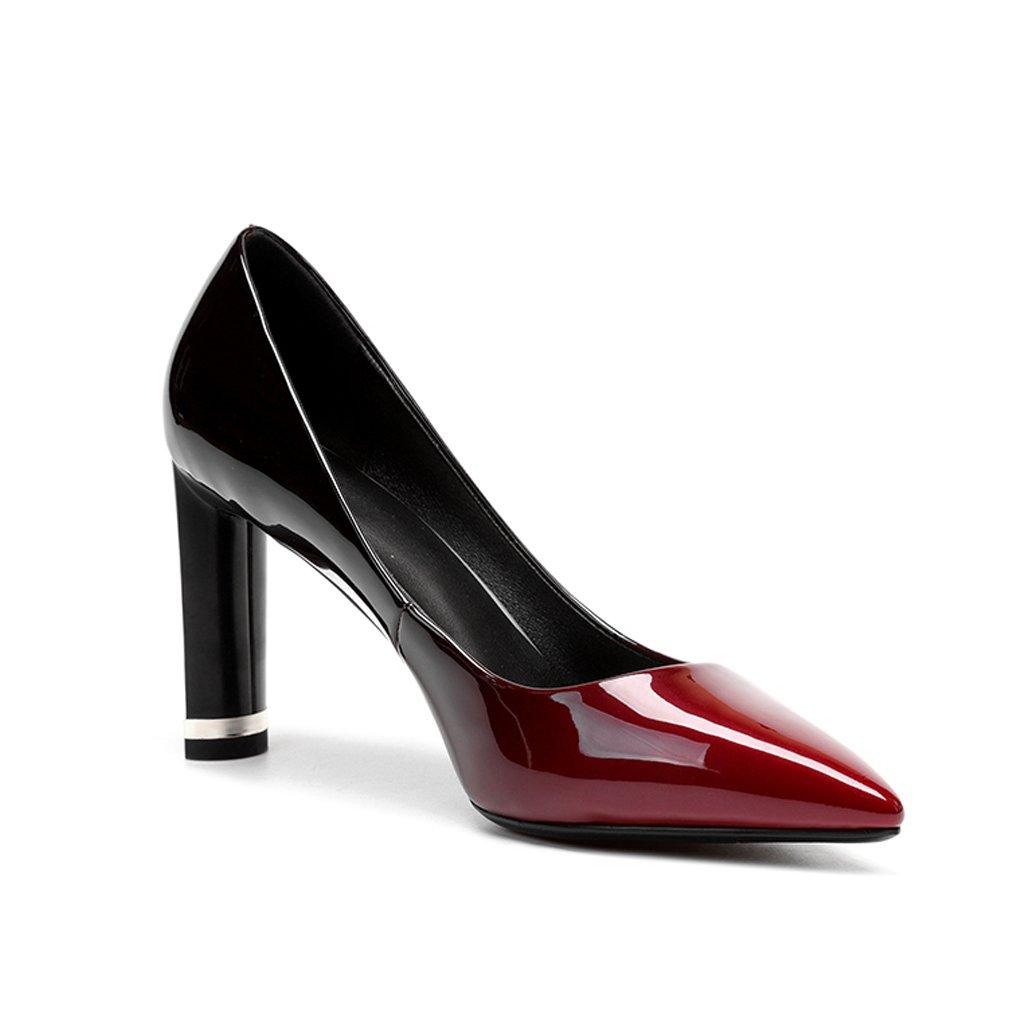 YUBIN YUBIN YUBIN Junge Frauen der Hohen Absätze der Frühlingsjugendhohen Die mit Den Schuhen der Frauen Hell Sind Beschriftet Lederne Arbeitsschuhe Die Flachen Mund der Frauen Flache Schuhe Beschuht 61f079