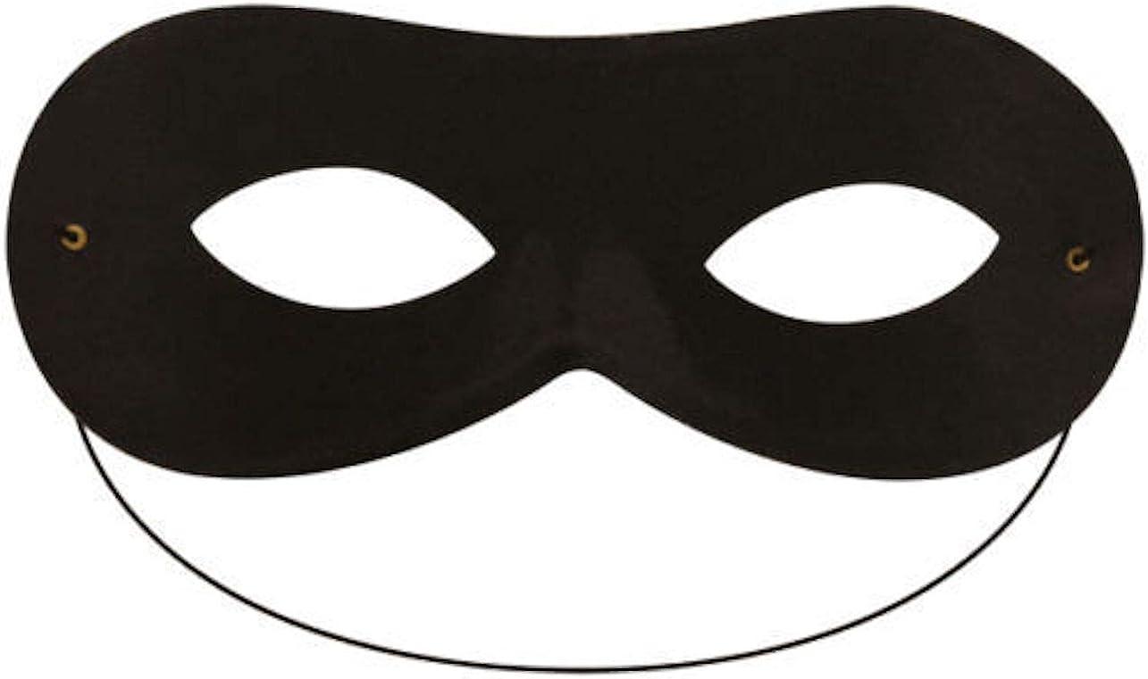 Black Bandit Eye Mask Burglar Robber Masquerade Fancy Dress