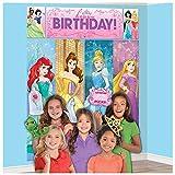 Amscan Disney Princess Dream Big Birthday Party Scene Setters Wall Decorating Kit (5 Piece), Multicolor, 59'' x 65''