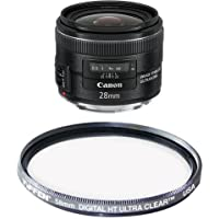 Canon EF 28mm f/2.8 IS USM Wide Angle Lens - Fixed Filter Bundle