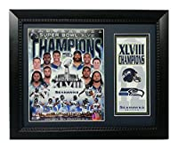Encore Select 141-72 NFL Seattle Seahawks Deluxe Frame Super Bowl XLVIII Champions Print, 11-Inch by 14-Inch