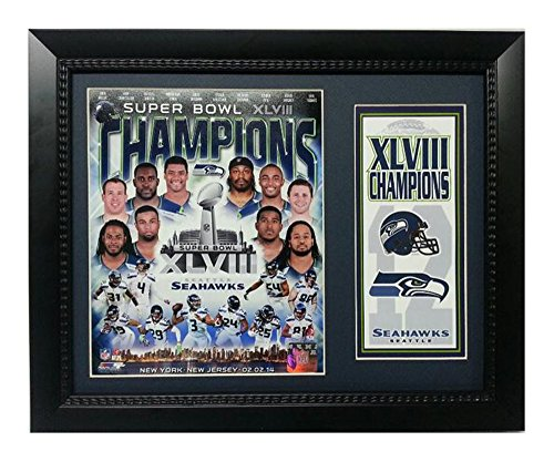 (Encore Select 141-72 NFL Seattle Seahawks Deluxe Frame Super Bowl XLVIII Champions Print, 11-Inch by 14-Inch)