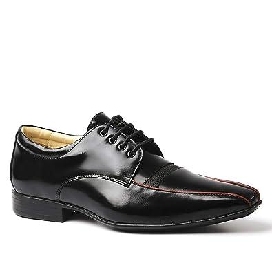b42f8f20f Sapato Social Masculino 3048 em Couro Verniz Preto/Framboesa Doctor Shoes- Preto-37