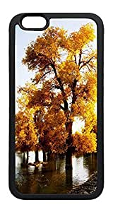 iPhone 6 Plus Case, Nature Fall Golden Trees TPU Rubber Bumper Polycarbonate Hybrid Case Full Protection Case for iPhone 6 Plus 5.5 Black