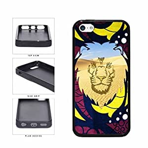 Lion King Of The and Jungle Desert Scene TPU RUBBER Phone Case Back Cover Apple bachelors iPhone 5c and workforce