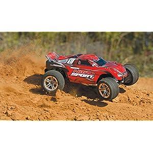 Traxxas Nitro Sport: 2WD Stadium Truck with TQ 2.4 GHz Radio (1/10 Scale), Red