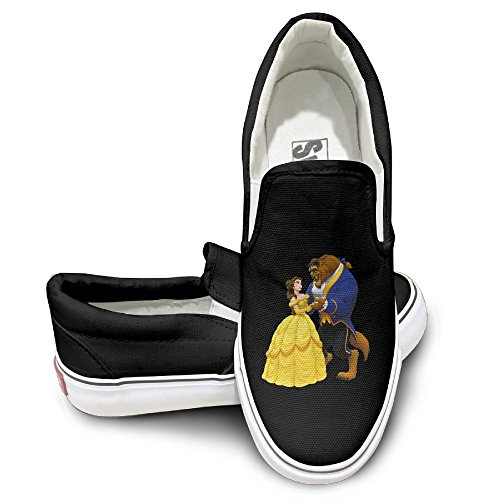 MGTER66 Beauty And The Beast Street Dance Canvas Shoes Slip On Unisex Style Color Black Size 42 (Flamenco Dance Costumes For Girls)