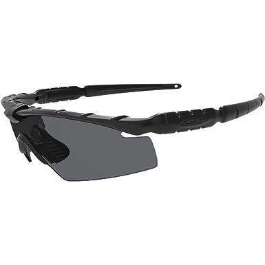 bf6330f74 Amazon.com: Oakley Men's Ballistic M Frame 2.0 Rectangular Sunglasses,  Matte Black, 0 mm: Clothing