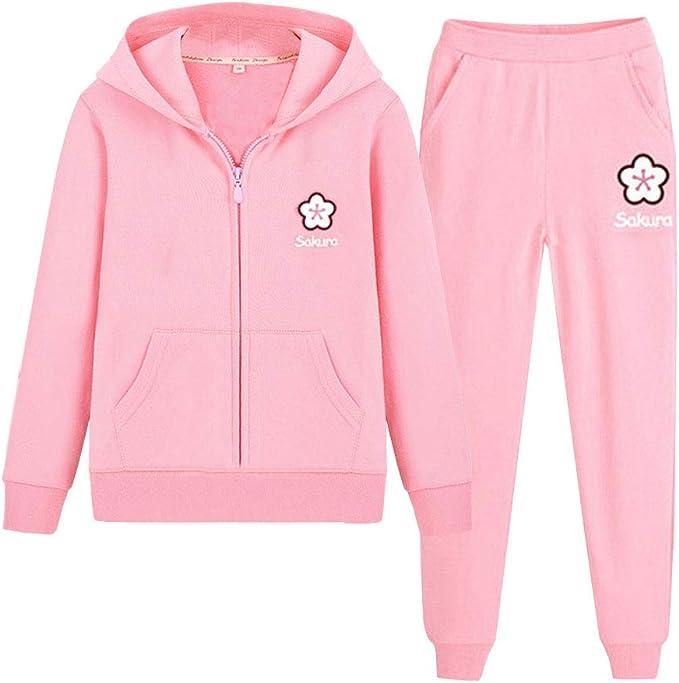 Mädchen Pink EINHORN Kapuzenpulli Freizeitanzug Jogginganzug
