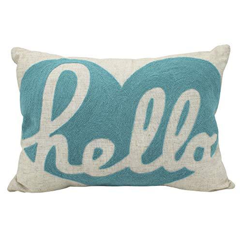 Better Homes Gardens Hello Heart Crewelwork Decorative Throw Pillow, Blue from Better Homes & Gardens