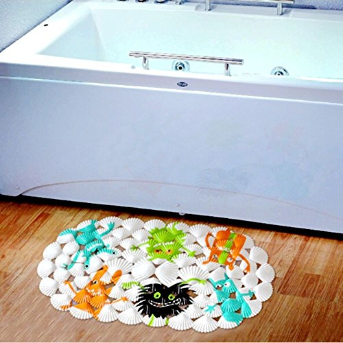 cute non slip baby bath mat children safest cartoon bathtub mat slip resistant shell bath mat. Black Bedroom Furniture Sets. Home Design Ideas