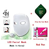 Sollume Esthe Photon IR Light Theray LED Real Face Mask with Anti Wrinkle Beauty Derma Red SPA Pen & Eye Mask