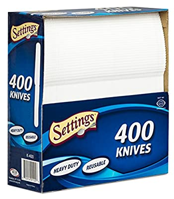 Settings 400-Piece Disposable Plastic Cutlery