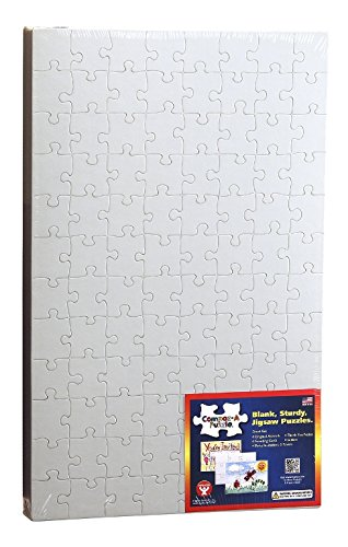 (Hygloss Products Blank Jigsaw Puzzle – Compoz-A-Puzzle – 10 x 16 Inch - 96 Pieces, 24 Puzzles)