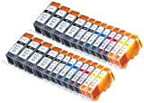 24 Pack Compatible Canon CLI-226 , PGI-225 8 Big Black, 4 Small Black, 4 Cyan, 4 Magenta, 4 Yellow for use with Canon PIXMA iP4820, PIXMA iP4920, PIXMA iX6520, PIXMA MG5120, PIXMA MG5220, PIXMA MG5320, PIXMA MG6120, PIXMA MG6220, PIXMA MG8120, PIXMA MG8120B, PIXMA MG8220, PIXMA MX712, PIXMA MX882, PIXMA MX892. Ink Cartridges for inkjet printers. CLI-526BK , CLI-526C , CLI-526M , CLI-526Y , PGI-525BK © Blake Printing Supply
