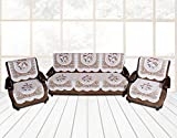 ShuffleKart 6 piece net fabric sofa and chair cover set -5 seater