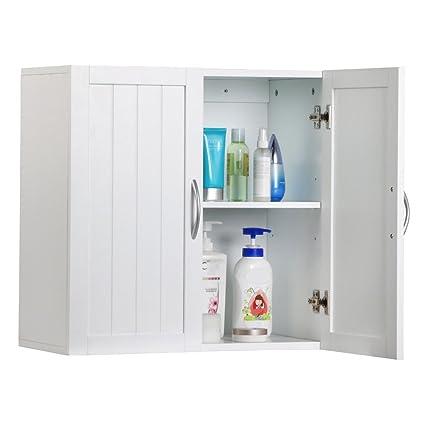 Mdf Nc Painted Wall Mount Storage Cabinet Bathroom Kitchen White