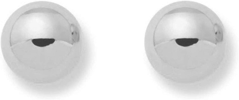 Monde Petit T1787P - Pendientes de bebe/niña oro blanco 18 kts. bola lisa 3 mm.