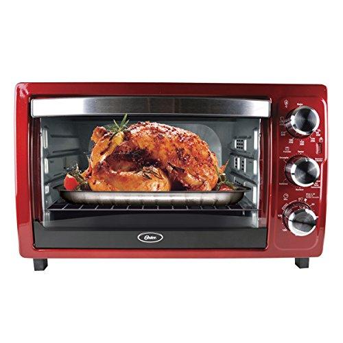 Horno tostador grande Oster® rojo con 32 litros de capacidad