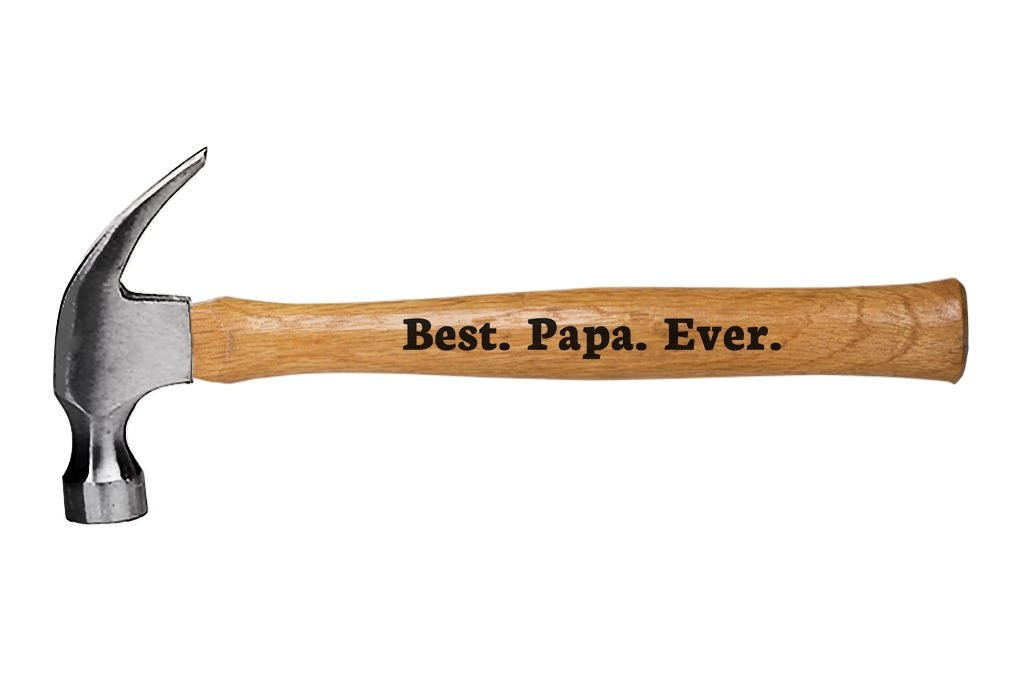 Engraved Wood Handle Hammer Best Papa Ever Father's Day, Christmas, Birthday Gift for Dad/Grandpa by Tstars
