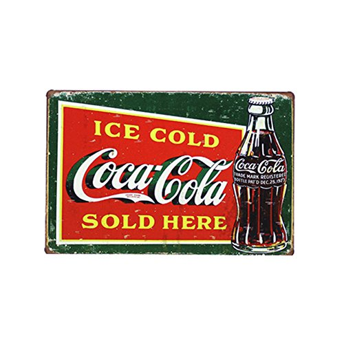 PEI's Boutique Coca Cola Pin Up Retro Metal Tin Sign 12