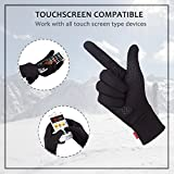 Aegend Running Gloves Women Men Touch Screen Cycling Sports Liner, Black, Large