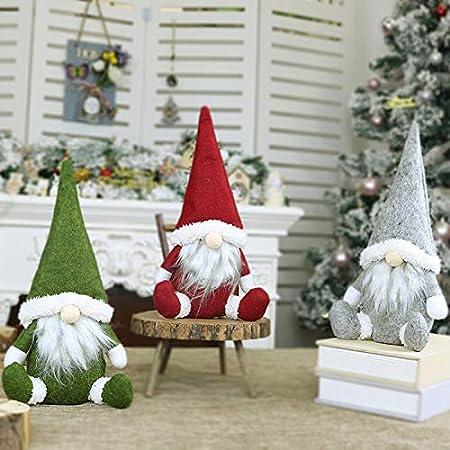 ZHAOYANG D/écoration De No/ël GNOME Rouge Et Vert GNOME gnomes de no/ël su/édois Santa Figurines Cadeaux De No/ël Chrismas D/écoration De Table cadeaux parfait