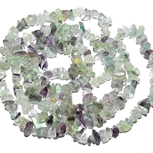 Bead Jewelry Making Purple & Green Rainbow Flourite Medium 7mm - 9mm Gemstone Chip Beads 36