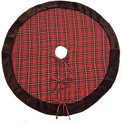 WFLJ 112cm/44inch Tela Escocesa roja y Negra de búfalo Faldas para ...
